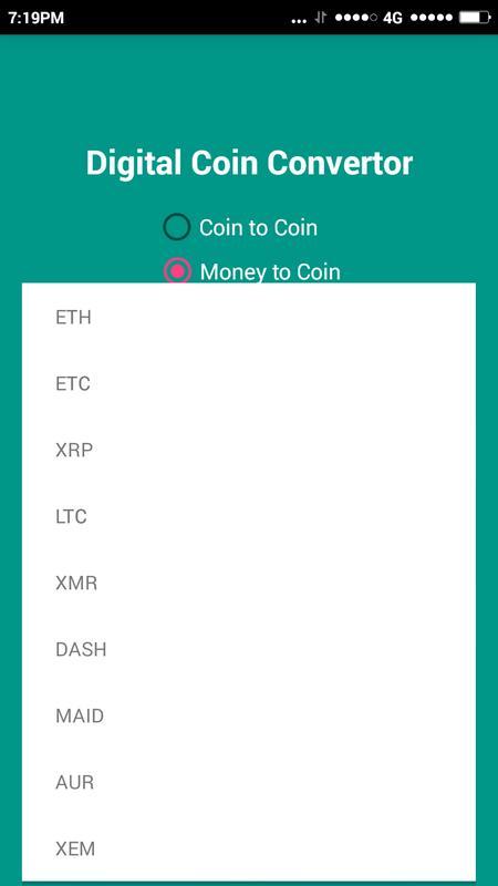 Digiconverter Digital Currency Converter Screenshot 2