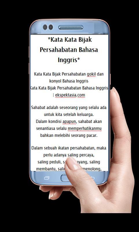 Kata Bijak Persahabatan Bahasa Inggris Für Android Apk