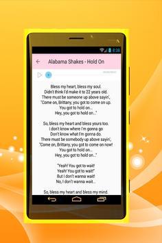 Alabama Shake All Song Lyrics poster