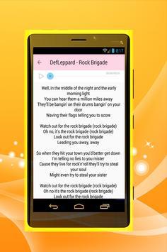 Def Leppard - Hysteria apk screenshot