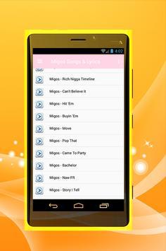 Migos Songs - Bad & boujee apk screenshot