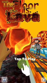 The Floor is Lava - Endless Runner poster