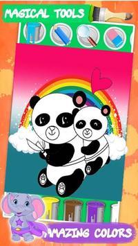 Kawaii coloring book poster