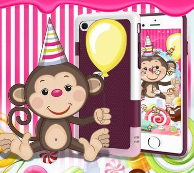 Kawaii Cute Candy Monkey Theme screenshot 6
