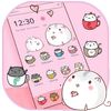 ikon Kawaii Kitty tema cangkir kucing Wallpaper