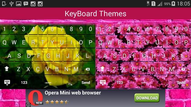 Pretty Flower Keyboard apk screenshot