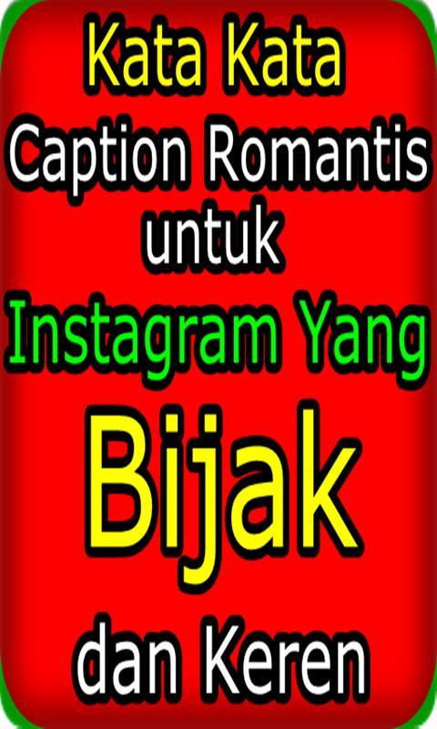 Kata Caption Romantis Untuk Instagram Für Android Apk