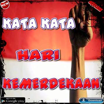 Kata kata Hari Kemerdekaan poster