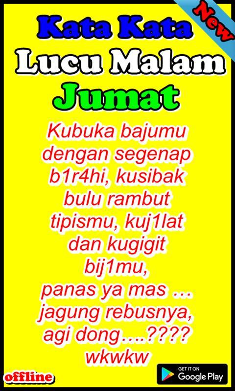 Kata Kata Lucu Malam Jumat für Android APK herunterladen