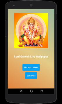 Lord Ganesh Live Wallpaper screenshot 1