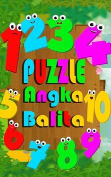 Puzzle Angka Balita poster