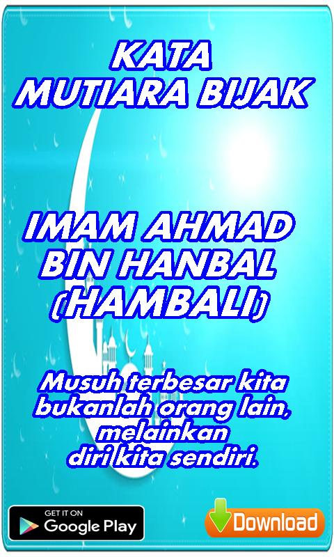 Kata Mutiara Bijak Imam Ahmad Bin Hanbal Für Android Apk