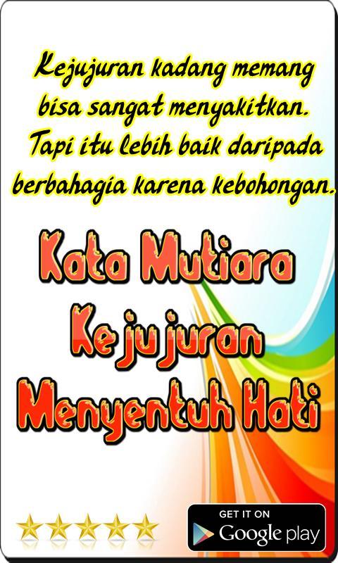 Kata Mutiara Kejujuran Menyentuh Hati For Android Apk Download