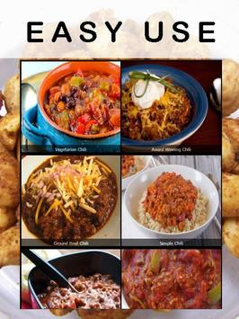 Chili recipes apk screenshot