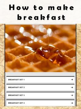 How to make breakfast poster
