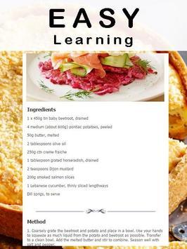 Salmon recipes apk screenshot