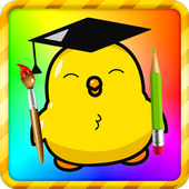 Learning colors, Coloring book & Matching games icon