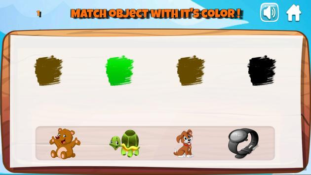 Learning colors, Coloring book & Matching games screenshot 6