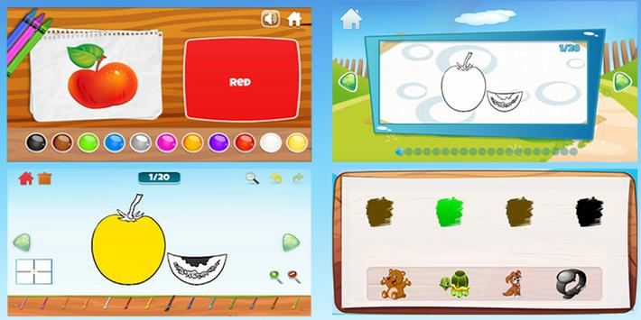Learning colors, Coloring book & Matching games screenshot 7