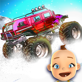 Baby Monster Truck Ice Racing icon