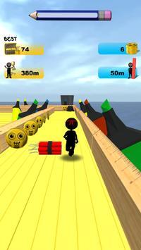 Stickman Run: 1 2 3 Go Running screenshot 7