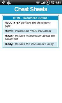 Cheat Sheets Lite screenshot 3