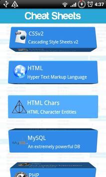 Cheat Sheets Lite screenshot 1