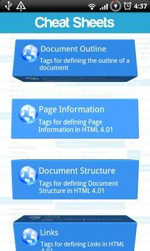 Cheat Sheets Lite screenshot 2