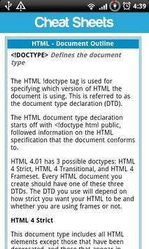 Cheat Sheets Lite screenshot 4
