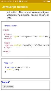 JavaScript Tutorials screenshot 4