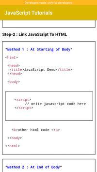 JavaScript Tutorials screenshot 5
