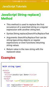 JavaScript Tutorials screenshot 1