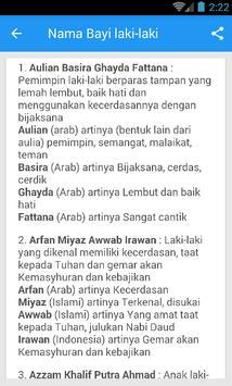 Rangkaian Dan Arti Nama Bayi Laki-Laki Islami Ekran Görüntüsü 1