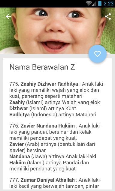 Rangkaian Dan Arti Nama Bayi Laki-Laki Islami for Android - APK Download