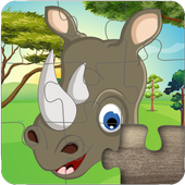 Cute Animal Jigsaw Puzzles for kids & toddlers 🦁 icon