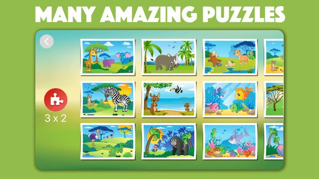 Cute Animal Jigsaw Puzzles for kids & toddlers 🦁 apk screenshot