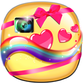 Cute Photo Stickers for Girls icon