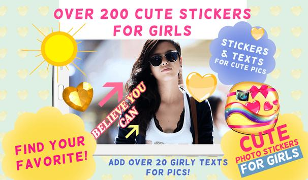 Cute Photo Stickers for Girls screenshot 1