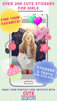 Cute Photo Stickers for Girls screenshot 3