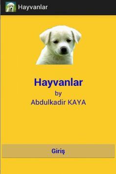 Hayvanlar poster