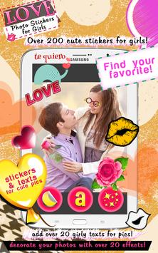 Love Photo Stickers for Girls poster