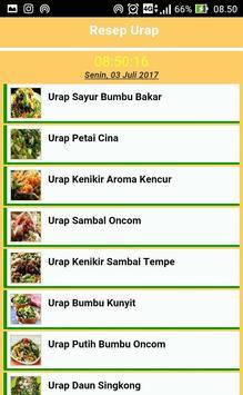 Aneka Resep Urap Pilihan apk screenshot