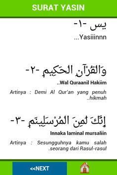 Surah Yasin Dan Terjemahan apk screenshot