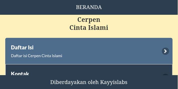 Cerpen Cinta Islami screenshot 1