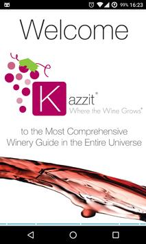 Kazzit: Your International Winery Guide poster
