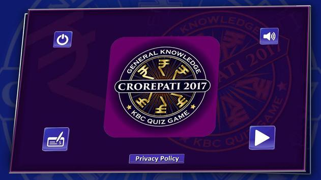 KBC 2018 & Crorepati English GK Endless Quiz Game screenshot 22