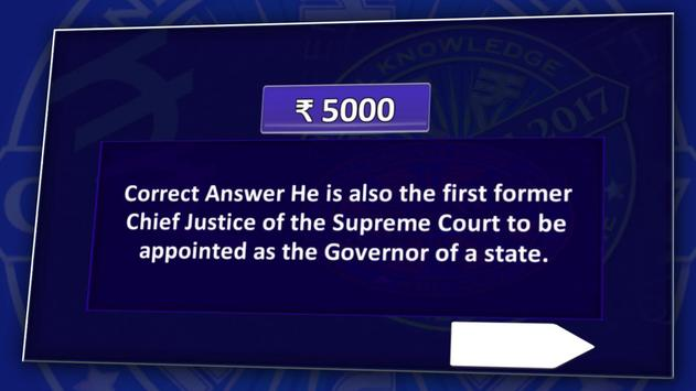 KBC 2018 & Crorepati English GK Endless Quiz Game screenshot 3