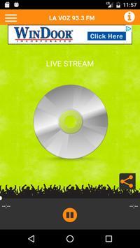 La Voz 93.3 FM poster