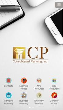 Consolidated Planning poster