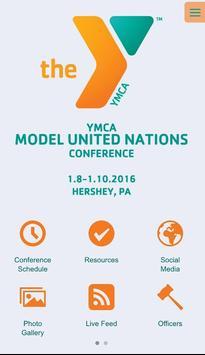YMCACE MUN App poster